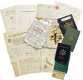 Movie/TV Memorabilia:Memorabilia, Marian Marsh Personal Items. This assortment of Marian Marsh'sbelongings includes her signed passports from 1933, 1960, 19...(Total: 1 Item)