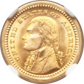 Commemorative Gold, 1903 G$1 Louisiana Purchase/Jefferson MS66+ NGC. CAC....