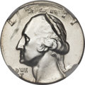 Errors, (1964)-D Washington Quarter -- Double Denomination on a 1964-D Dime -- MS65 NGC....