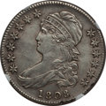 Bust Half Dollars: , 1808 50C -- Improperly Cleaned -- NGC Details. AU. NGC Census:(40/214). PCGS Population (49/220). Mintage: 1,368,600. Numi...