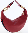 Luxury Accessories:Bags, Gucci Red Leather Hobo Bag with Gold Bamboo Hardware. ...