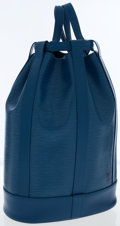 Luxury Accessories:Bags, Louis Vuitton Blue Epi Leather Randonee Shoulder or Backpack Bag....
