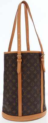 Louis Vuitton Classic Monogram Canvas Bucket GM Bag