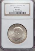German States:Bavaria, German States: Bavaria. Ludwig III Lot 1914-D,... (Total: 2 coins)