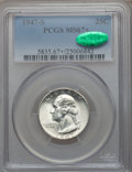 Washington Quarters, 1947-S 25C MS67+ PCGS. CAC....