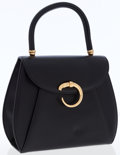 Luxury Accessories:Bags, Cartier Black Leather Classic Panthere Kelly Bag with GoldHardware. ...