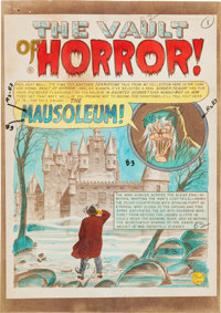 "The Vault of Horror #29 ""The Mausoleum!"" Complete Story Silverprint Group (EC, 1953).... (Total: 8 Items)"