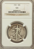 Walking Liberty Half Dollars: , 1921 50C Good 6 NGC. NGC Census: (127/613). PCGS Population(250/971). Mintage: 246,000. Numismedia Wsl. Price for problem ...