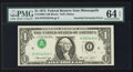 Error Notes:Inverted Third Printings, Fr. 1908-I $1 1974 Federal Reserve Note. PMG Choice Uncirculated 64EPQ.. ...