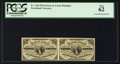 Fractional Currency:Third Issue, Fr. 1226 3¢ Third Issue Uncut Horizontal Pair PCGS New 62.. ...