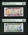 Canadian Currency: , BC-48bA $5 1972 Replacement Note. BC-49aA $10 1971 ReplacementNote. . ... (Total: 2 notes)