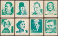 Non-Sport Cards:Sets, 1933 R122 Ridley's Screen Snappie Movie Stars, Blue Backs Near Set(31/32). ...