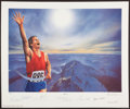 "Miscellaneous Collectibles:General, 1994 ""Victory"" Signed Lithograph with Neil Armstrong, Muhammad Aliand Others. ..."