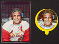 Baseball Cards:Singles (1970-Now), 1973 Topps Test Baseball Stars Candy Joe Torre Lid and ProductionProof Pair (2). ...