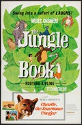 "Movie Posters:Animation, The Jungle Book/Charlie the Lonesome Cougar Combo (Buena Vista, 1967). One Sheet (27"" X 41""). Animation.. ..."