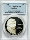 Modern Issues: , 1993-S $1 Bill of Rights Silver Dollar PR69 Deep Cameo PCGS. PCGSPopulation (2272/34). NGC Census: (2068/33). Mintage: 534...