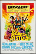 "Movie Posters:Bad Girl, Savage Sisters (American International, 1974). One Sheet (27"" X 41"") Style A. Bad Girl.. ..."