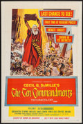 "Movie Posters:Drama, The Ten Commandments (Paramount, R-1960). One Sheet (27"" X 41""). Drama.. ..."