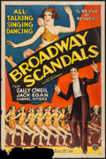 "Movie Posters:Musical, Broadway Scandals (Columbia, 1929). One Sheet (27"" X 41""). Musical.. ..."
