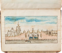 [Death of Samuel H. Walker]. David W. Haines Autograph Eyewitness Account with Watercolor Illustration of the Death of T...
