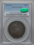 Seated Half Dollars: , 1852-O 50C XF40 PCGS. CAC. PCGS Population (14/44). NGC Census:(5/27). Mintage: 144,000. Numismedia Wsl. Price for problem...