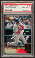 Baseball Cards:Singles (1970-Now), 2001 Upper Deck Albert Pujols #295 PSA Gem MT 10....
