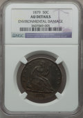 Seated Half Dollars: , 1879 50C -- Environmental Damage -- NGC Details. AU. NGC Census:(1/247). PCGS Population (2/329). Mintage: 4,800. Numismed...