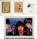 Music Memorabilia:Posters, Rolling Stones Cashbox Ad Art Group (1973-76).... (Total: 4Items)
