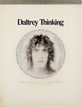 """Music Memorabilia:Posters, The Who's Roger Daltrey Cashbox Ad Art for """"Thinking""""(1973). ..."""