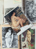 Paintings, PAIR OF DOSSIERS OF RENOIR'S NUDE PAINTINGS. THE RENOIR COLLECTION. ... (Total: 2 Items)