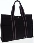 Luxury Accessories:Accessories, Hermes Black and Gray Canvas Fourre Tout MM Tote Bag. ...