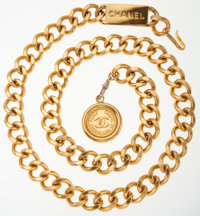Chanel Gold Chain Belt with CC Medallion