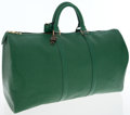 Luxury Accessories:Travel/Trunks, Louis Vuitton Green Epi Leather Keepall 50 Weekender Overnight Bag. ...