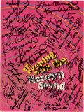 Music Memorabilia:Autographs and Signed Items, An Evening with the Motown Sound Concert Program Signed by Michael Jackson and Others (Motown Records, 1967)....
