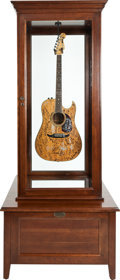 Music Memorabilia:Autographs and Signed Items, Fender Balboa Acoustic Electric Guitar, circa 1980s, Signed by 166Musicians and Celebrities. Proceeds will Aid in the Fight a...(Total: 5 Items)