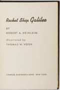 Books:Children's Books, Robert A. Heinlein. Rocket Ship Galileo. New York: CharlesScribner's Sons, 1947. First edition, first printing with...