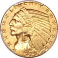 Indian Half Eagles, 1929 $5 -- Mount Removed -- PCGS Genuine. XF Details....