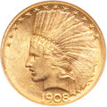 Indian Eagles, 1908-S $10 MS60 NGC....