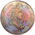 Patterns, 1859 P50C Half Dollar, Judd-240, Pollock-296, R.5, PR64 Red andBrown PCGS....