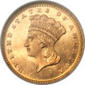 Gold Dollars, 1867 G$1 MS66 Prooflike NGC....