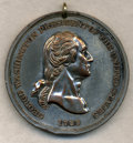 Washingtonia, Uncertified 20th Century Washington Indian Peace Medal. Type of Baker-174. Silver-plated Copper. Holed at 12 o'clock, light ...