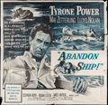 "Movie Posters:Adventure, Abandon Ship! (Columbia, 1957). Six Sheet (78"" X 78""). Adventure....."