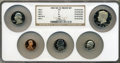 """Proof Sets, 1983-S Proof Set w/ 1983 No """"S"""" 10C PR69 Ultra Cameo NGC. Encapsulated in a single NGC holder.... (Total: 5 coins)"""