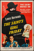 "Movie Posters:Mystery, The Saint's Girl Friday (RKO, 1954). One Sheet (27"" X 41"").Mystery.. ..."
