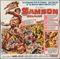 "Movie Posters:Adventure, Samson and Delilah (Paramount, R-1959). Six Sheet (81"" X 81"") &Lobby Cards (6) (11"" X 14""). Adventure.. ... (Total: 7 Items)"