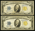 Small Size:World War II Emergency Notes, Fr. 2309 $10 1934A North Africa Silver Certificates. Two Examples. Fine-Very Fine or Better.. ... (Total: 2 notes)