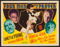 "Movie Posters:Adventure, Four Men and a Prayer (20th Century Fox, 1938). Title Lobby Card(11"" X 14""). Adventure.. ..."