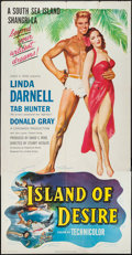 "Movie Posters, Island of Desire (United Artists, 1952). Three Sheet (41"" X 81"").Flat Folded.. ..."