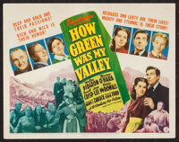 """How Green Was My Valley (20th Century Fox, 1941). Title Lobby Card (11"""" X 14""""). Drama"""