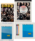 Music Memorabilia:Posters, Beatles - Cashbox Ad and Cover Proofs (1966-76).... (Total:4 Items)